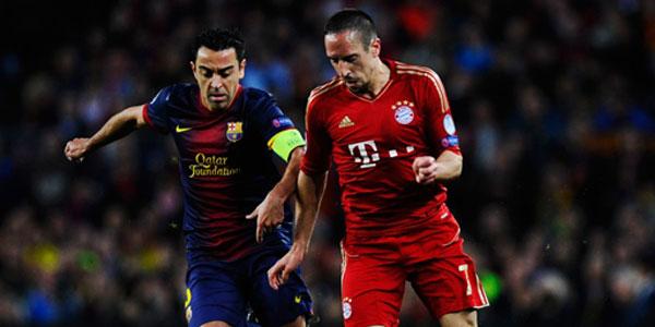Xavi and Ribery