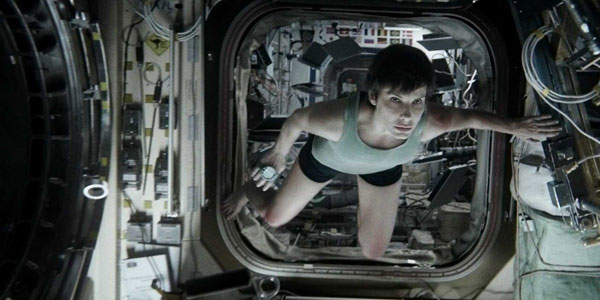 Gravity, starring Sandra Bullock