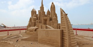 Stunning sand sculptures line the beach at Beach Walk