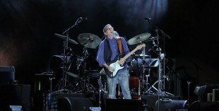 Eric Clapton performing in Dubai