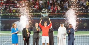 Roger Federer wins the Dubai Duty Free Tennis Championship