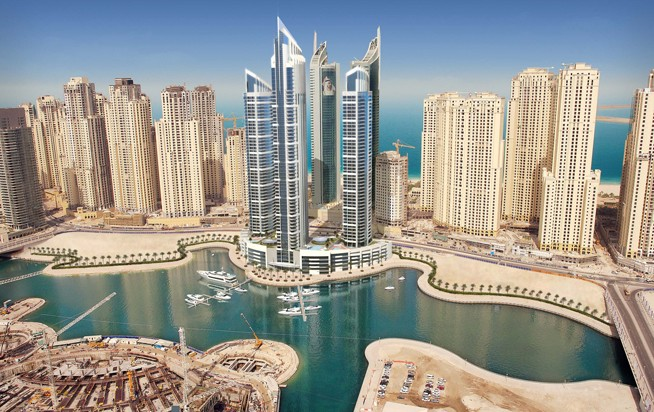 Early artist impressions of the Intercontinental Dubai Marina