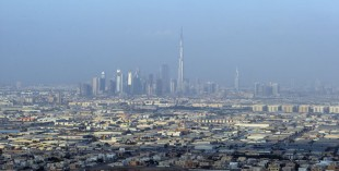 Earthquake in Dubai (stock image of Dubai skyline)