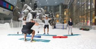 Snow-robics at Ski Dubai
