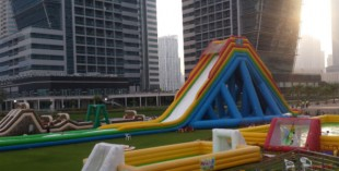 Aqua Fun inflatable waterpark in JLT