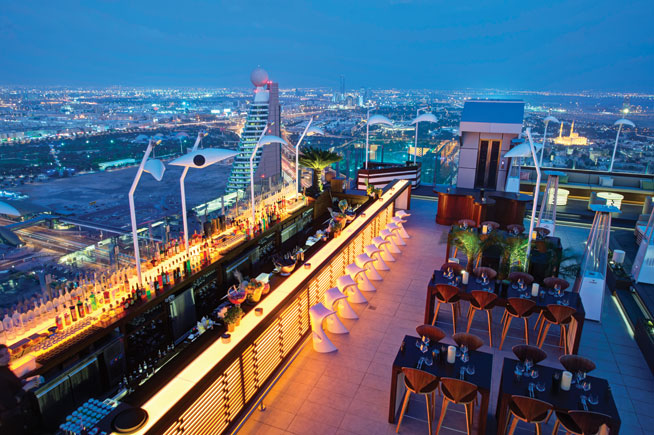 Highest roof terrace bar - 40Kong, H Hotel