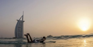 Surfing in Diubai with Mohammed Rahma