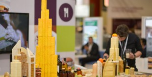 Dubai skyline made out of food for Dubai Food Festival