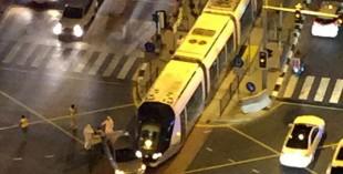 Dubai Tram crash, JBR (credit: twitter.com/RamiSaad)