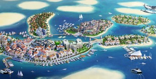 Dubai World Islands - Mainland Europe (credit: thoe.com)