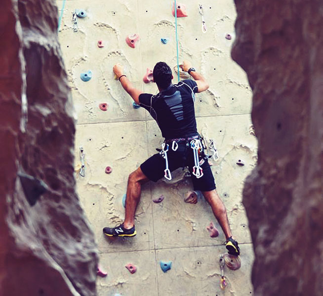 Rock climbing in Dubai - Pharoah's