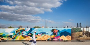RehlatnaUAE - the world's longest piece of graffiti (image credit: Jo Askew)