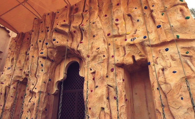 Rock climbing in Dubai - Talise Fitness, Madinat Jumeirah