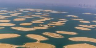 Dubai World Islands from the sky