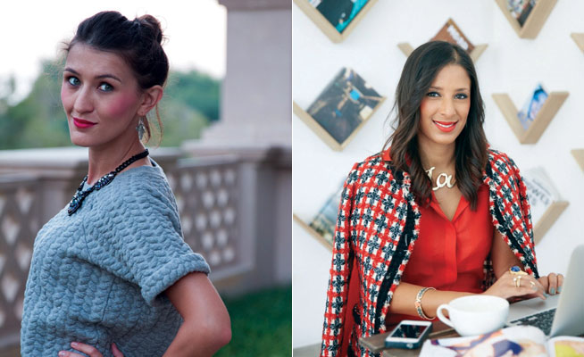 Fashion bloggers in Dubai - Sand In The City and Lebrasse