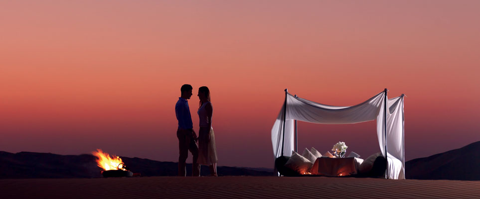 Image result for Dhabi couple desert dining