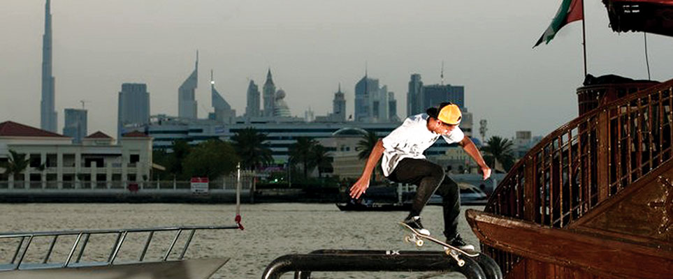 Skateboarding movie filmed in Dubai