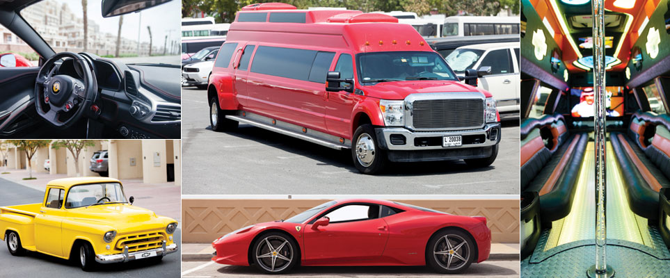 Cool car rentals in Dubai - limo, luxury, retro