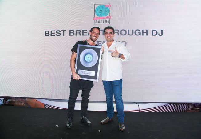 Hype Music & Nightlife Awards at EDEN Beach Club - Sam Fariso, best breakthrough DJ