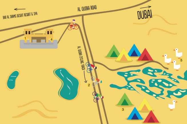 Map of Al Qudra