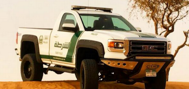 GMC pick up joins Dubai Police Force