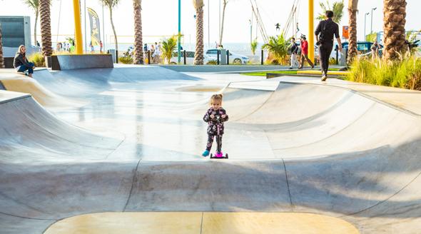 The XDubai skatepark on Kite Beach