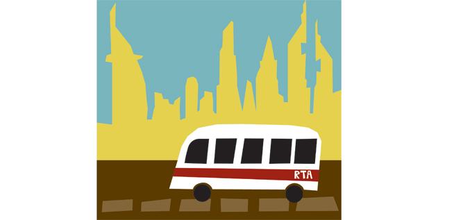 get the bus in dubai