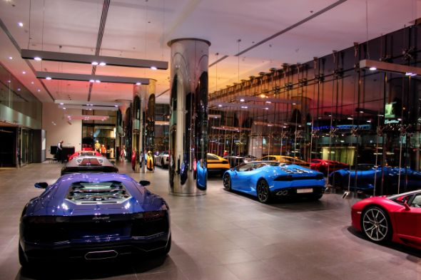 The World S Largest Lamborghini Showroom Is Now In Dubai