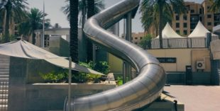 slide in downtown dubai