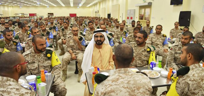 Sheikh Mohammed shares iftar with UAE soldiers - What's On ...