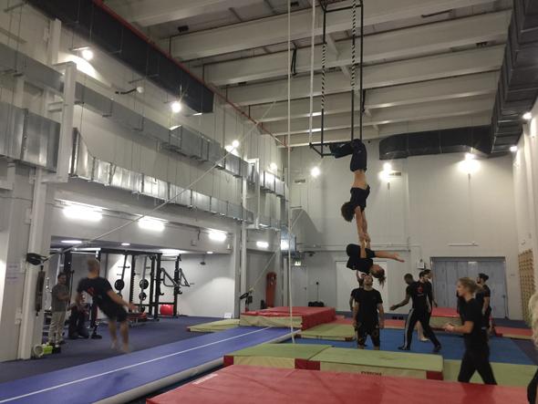 Gymnasts at La Perle