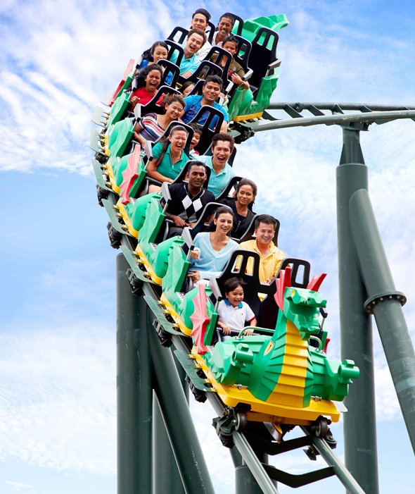 The Dragon roller coaster
