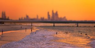 dubai beach sunset
