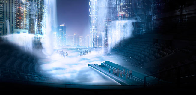 A first look at la perle dubai 39 s first permanent stage show - Swimming pool construction jobs dubai ...