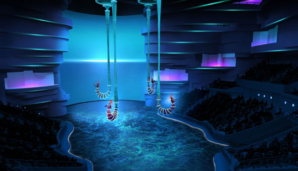 A first look at la perle dubai 39 s first permanent stage show for Pool show dubai
