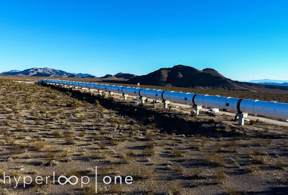 Check out Hyperloop One's first full-scale test track in the Nevada desert