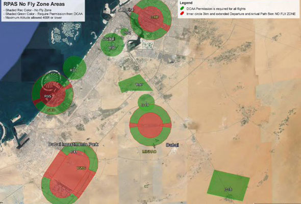 Do You Own A Drone In Dubai Take Note Of These New Rules - Us airspace map drone