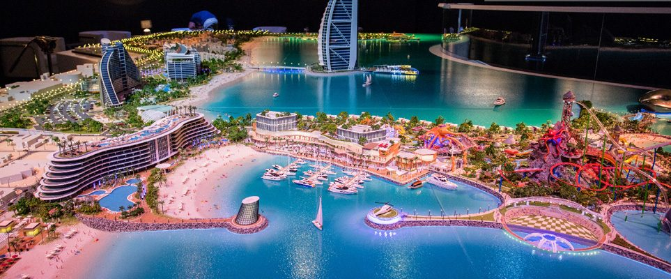 Two huge islands are being built next to the burj al arab for The burg hotel dubai
