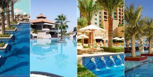 pool and beach access dubai