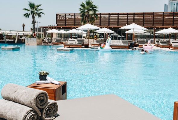 Jbr has got a brand new beach club and it 39 s open now - Egyptian club dubai swimming pool ...