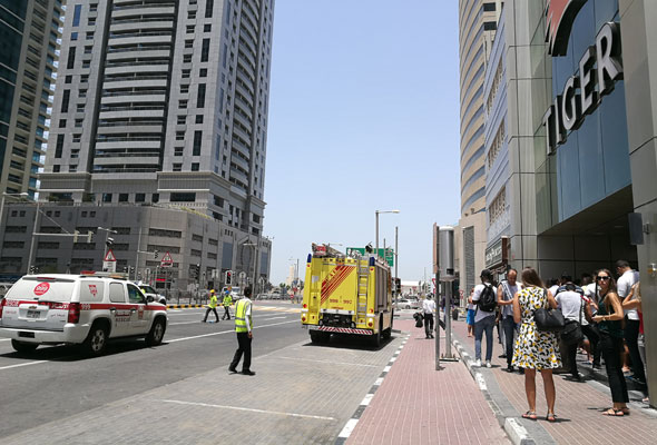 Firefighters tackle blaze in second Dubai Marina tower
