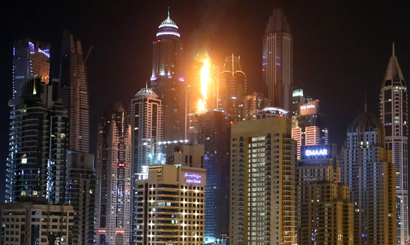 Fire Strikes another Tower in Dubai Marina