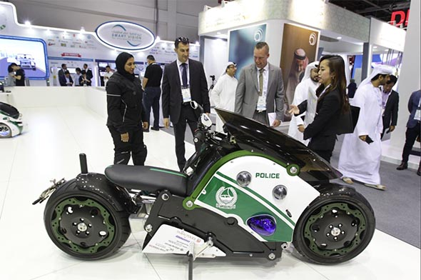 Dubai Police Also Showed Off A Regular Motorbike And By That We Mean It Has Two Wheels Drives On The Road Other Than This Thing Is Way