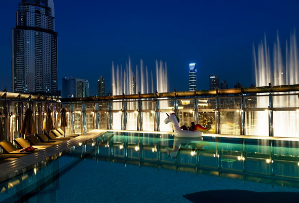 Eight rooftop spots in dubai for every occasion - Egyptian club dubai swimming pool ...