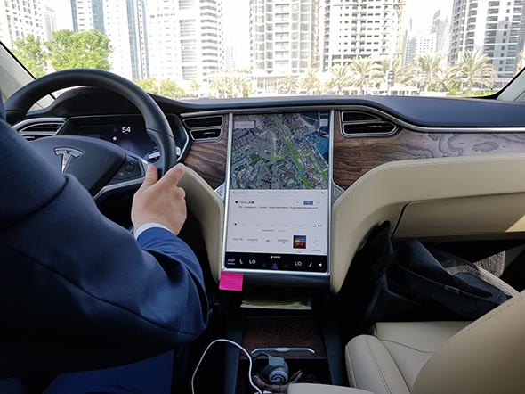 Hail A Tesla Using Uber For Not Much More Than The Cost Of