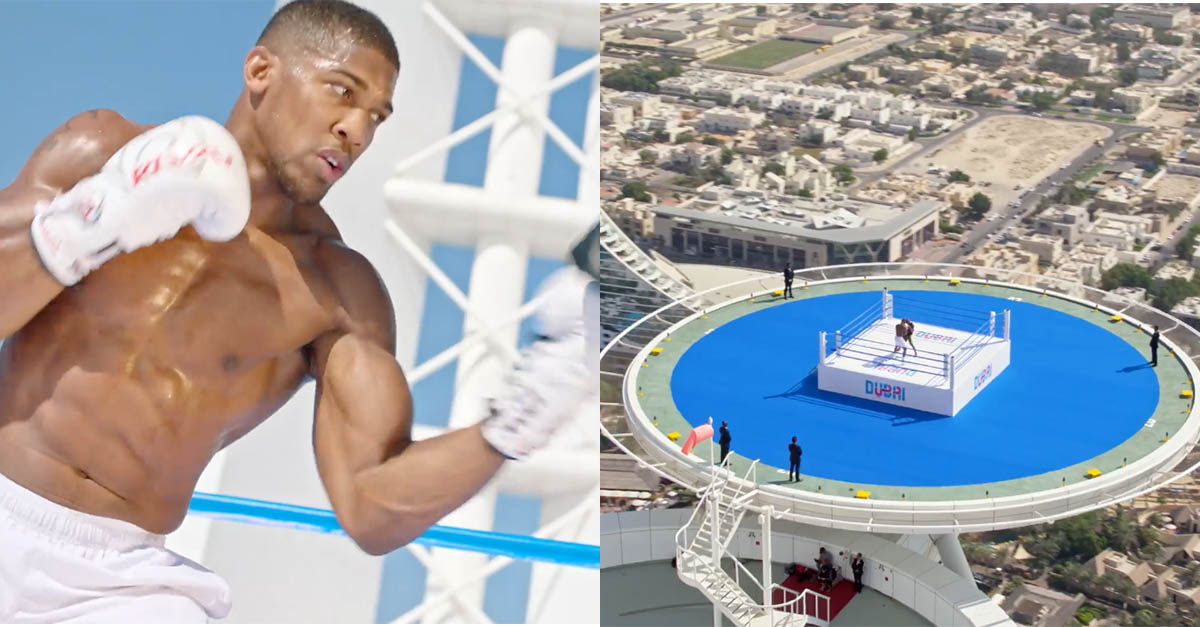 Watch Anthony Joshua Show Off His Boxing Skills Atop The
