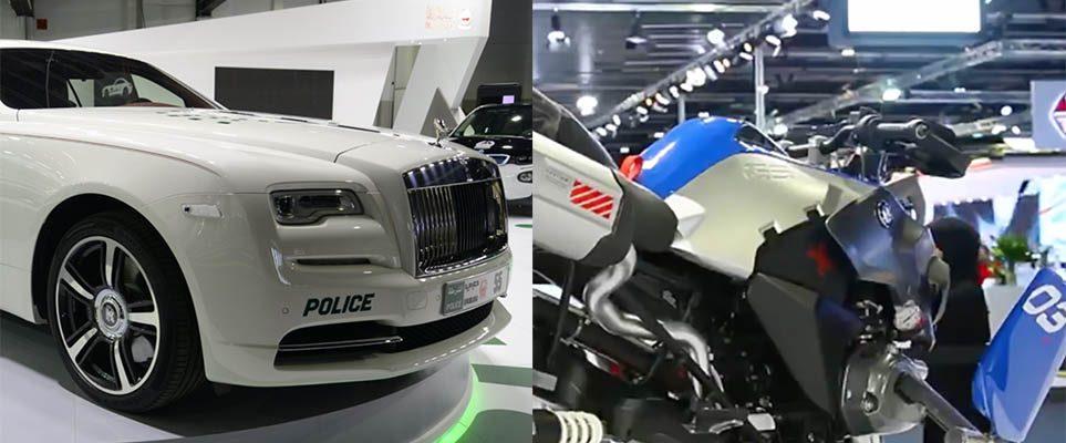 Watch Dubai Police Show Off Some Cool New Additions To Their Fleet - Car show dubai