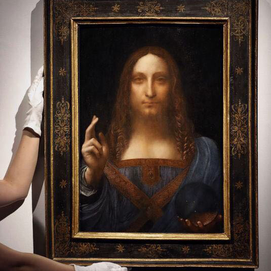 The louvre has added a leonardo da vinci painting to its Paintings that are worth a lot of money