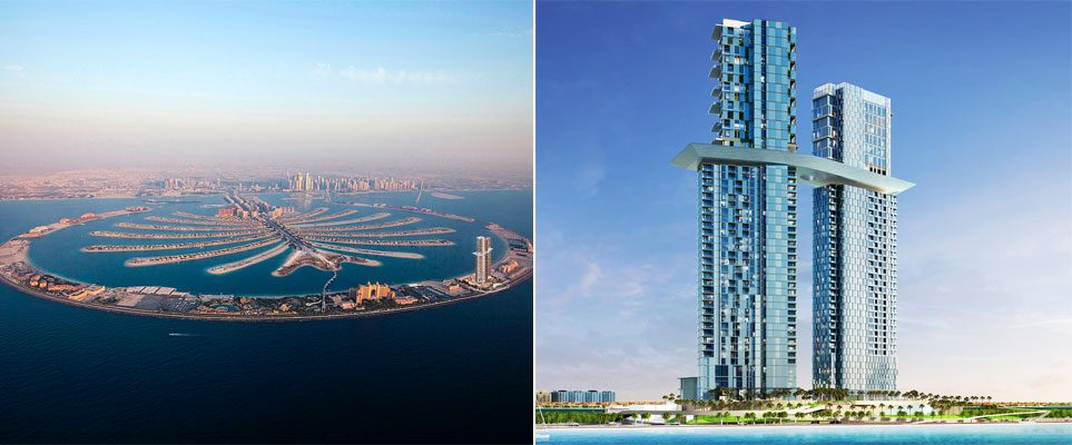 The world 39 s largest sky pool to open in the new raffles for The largest hotel in dubai