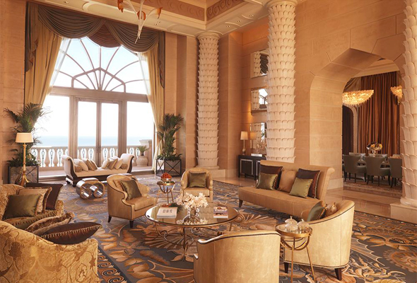 Accessed Through A Guarded Entrance From Its Own Private Elevator The 924 Metre Royal Bridge Atlantis Suite Can Be Found At Very Top Of Lavish Hotel